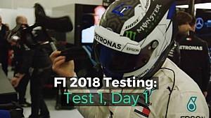 F1 2018 Testing: Test 1, Day 1