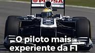 O piloto mais experiente da F1