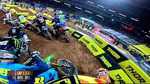 Sean Cantrell main event #1 2018 Monster Energy Supercross from Atlanta
