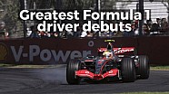 Greatest Formula 1 driver debuts