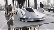 Eric Otto photographs 1:3 Porsche concept cars in Paris (behind-the-scenes)