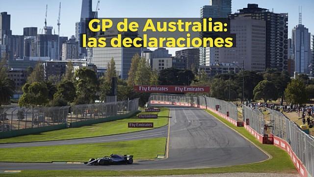 Fórmula 1 VIDEO: La palabra de los protagonistas en Australia