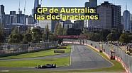 Motorsport Shorts: GP de Australia las declaraciones del viernes