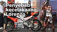 Penyebab kecelakaan Jorge Lorenzo | MotoGP Qatar 2018
