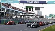Resumen del GP de Australia de Fórmula 1 2018 ESP