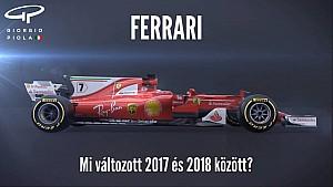Piola: A Ferrari fejlesztései - 2017 vs. 2018