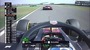 Max Verstappen et Sebastian Vettel s'accrochent