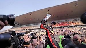Daniel Ricciardo fête sa victoire au GP de Chine