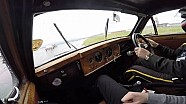 Silverstone Classic Media Day - in car with Anthony Reid