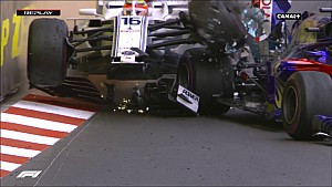 Le crash de Leclerc et Hartley à Monaco