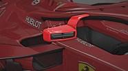 Les rétroviseurs du Halo Ferrari