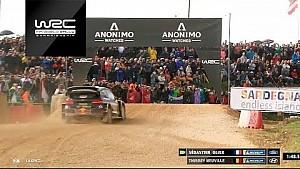 Le duel entre Sébastien Ogier et Thierry Neuville en super spéciale en Sardaigne